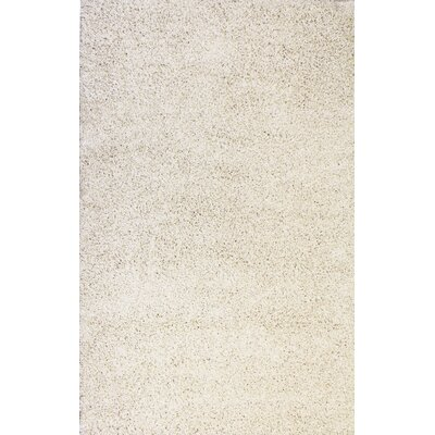 Madison Shag Vanilla Plain Area Rug Rug Size: 67 x 910