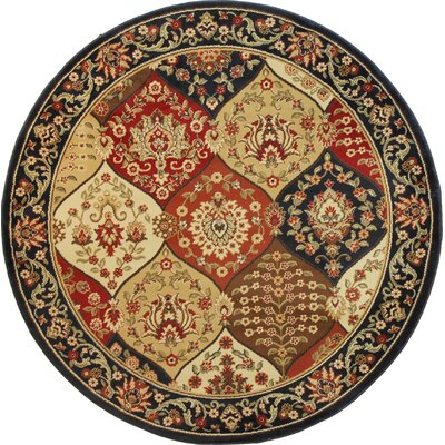 Barclay Wentworth Panel Navy Area Rug Rug Size: Round 53