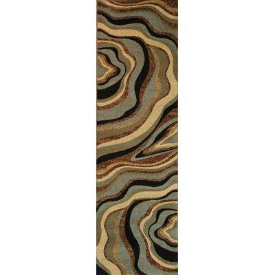 Barclay Nirvana Waves Area Rug Rug Size: Runner 23 x 73