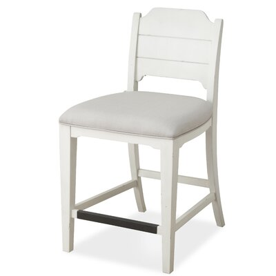 Aurora Counter Bar Stool with Upholstered Seat (Set of 2)