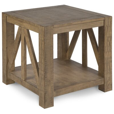 Felisha Wood End Table