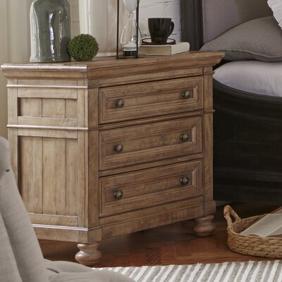 LaSalle 3 Drawer Nightstand