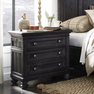 Alona 3 Drawer Nightstand