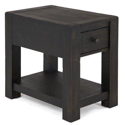Graciela Rustic Wood End Table