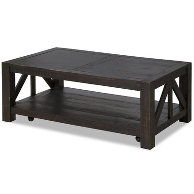 Natesha Rustic Coffee Table with Casters
