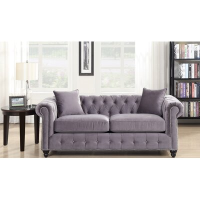 Sture Tufted Chesterfield Sofa Finish: Slate