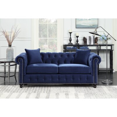 Sture Tufted Chesterfield Sofa Finish: Navy Blue