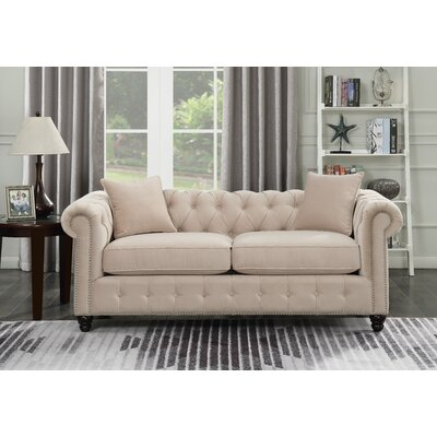 Sture Tufted Chesterfield Sofa Finish: Beige