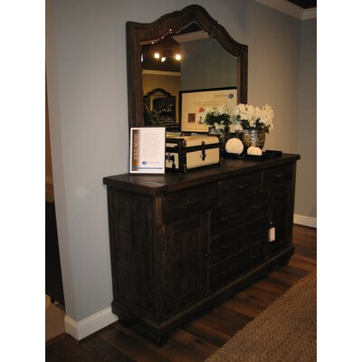 Brenley 7 Drawer Combo Dresser with Mirror