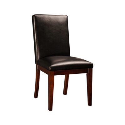 Bradford Leather Upholstered Dining Chair Upholstery: Black