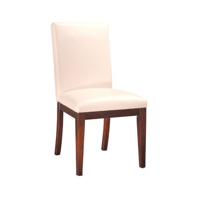 Bradford Leather Upholstered Dining Chair Upholstery: Ivory