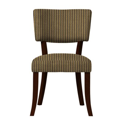 Larochelle Brown Stripe Side Chair