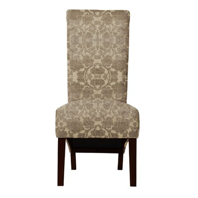 Audra Beige/Brown Parsons Chair (Set of 2)