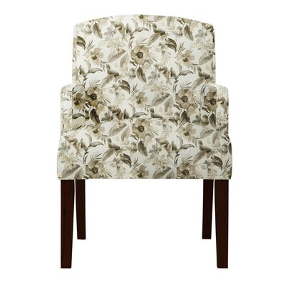 Keisha Floral Beige Arm Chair