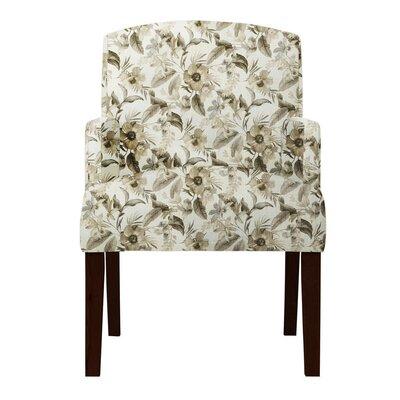 Keisha Floral Beige Arm Chair