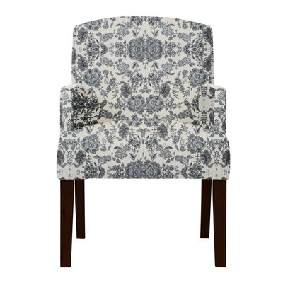 Keisha Gray Cotton Arm Chair