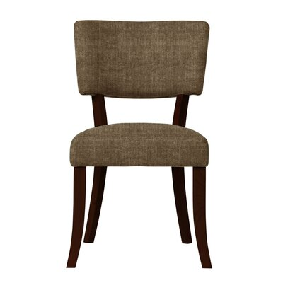 Larochelle Curved Wood Legs Side Chair Upholstery: Brown
