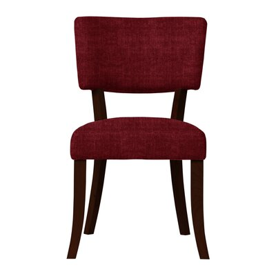 Larochelle Curved Wood Legs Side Chair (Set of 2) Upholstery: Red