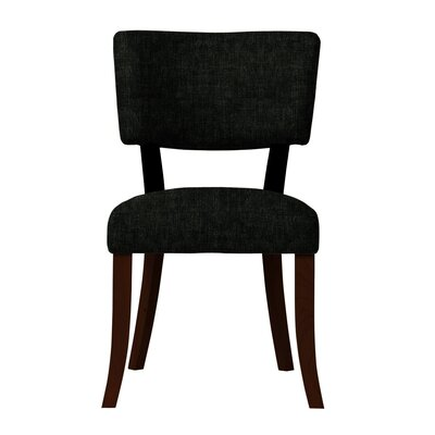 Larochelle Side Chair (Set of 2) Upholstery: Black