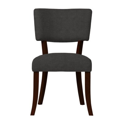 Larochelle Solid Upholstered Side Chair Upholstery: Gray