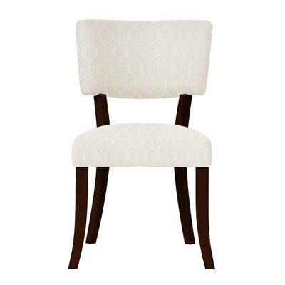 Petra Beige/Dark Cherry Side Chair
