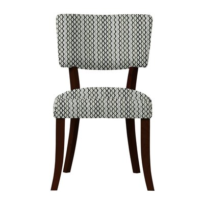 Larochelle Lattice Side Chair (Set of 2) Upholstery: Gray/Black