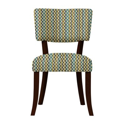 Larochelle Lattice Side Chair Upholstery: Yellow/Blue