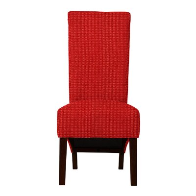 Keyesport Rough Cloth Parsons Chair (Set of 2) Upholstery: Red
