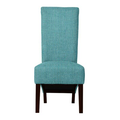 Keyesport Rough Cloth Parsons Chair (Set of 2) Upholstery: Light Blue