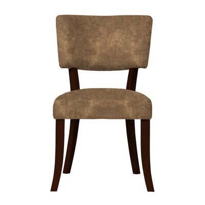 Larochelle Solid Upholstered Side Chair Upholstery: Light Brown