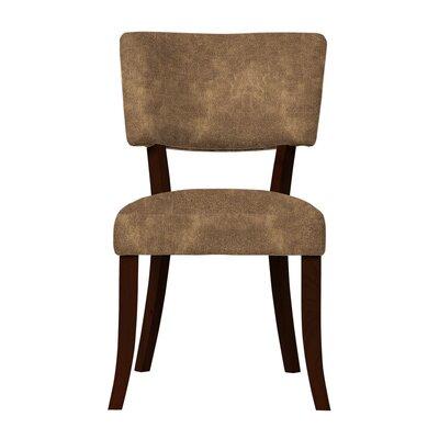 Larochelle Solid Upholstered Side Chair Upholstery: Light Brown