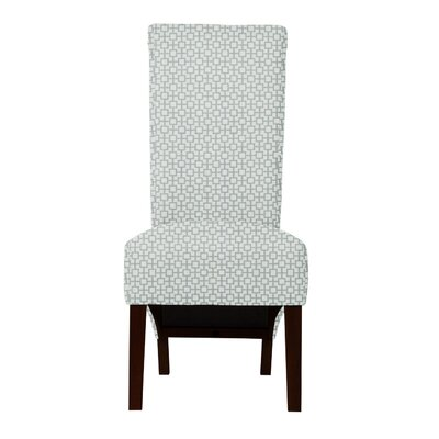 Keyesport Geometric Parsons Chair (Set of 2) Upholstery: Light Blue