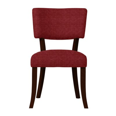 Larochelle Solid Back Side Chair (Set of 2) Upholstery: Red