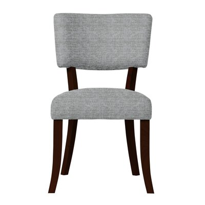 Larochelle Solid Back Side Chair Upholstery: Light Gray