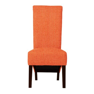 Keyesport Rough Cloth Parsons Chair Upholstery: Orange