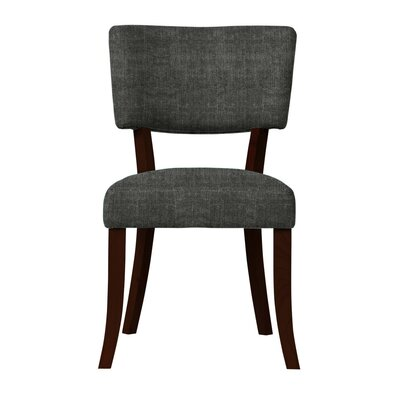 Larochelle Curved Wood Legs Side Chair Upholstery: Dark Gray