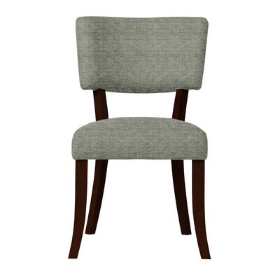 Larochelle Solid Back Side Chair (Set of 2) Upholstery: Gray