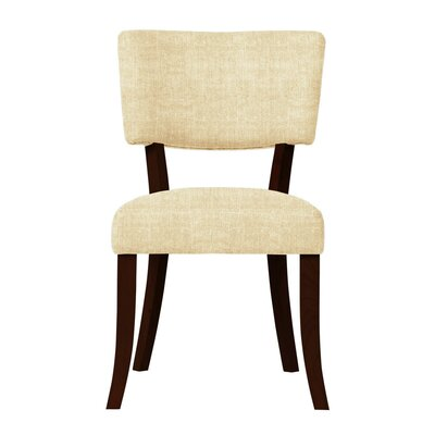 Larochelle Curved Wood Legs Side Chair Upholstery: Soft White