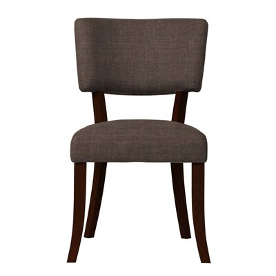 Larochelle Solid Back Side Chair Upholstery: Brown
