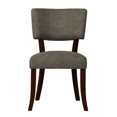 Larochelle Solid Upholstered Side Chair Upholstery: Light Gray