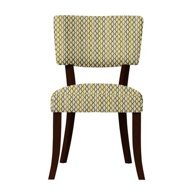 Larochelle Lattice Side Chair Upholstery: Gray/Yellow