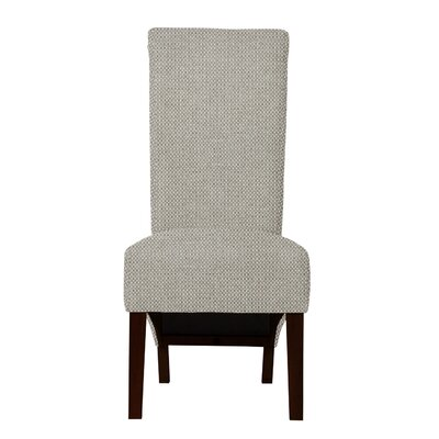 Keyesport Rough Cloth Parsons Chair (Set of 2) Upholstery: Light Gray