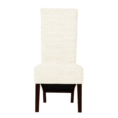 Keyesport Upholstered Parsons Chair (Set of 2) Upholstery: Cream
