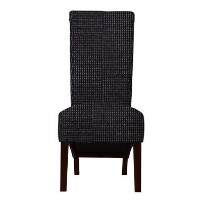 Keyesport Rough Cloth Parsons Chair Upholstery: Black