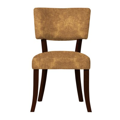 Larochelle Solid Upholstered Side Chair Upholstery: Brown