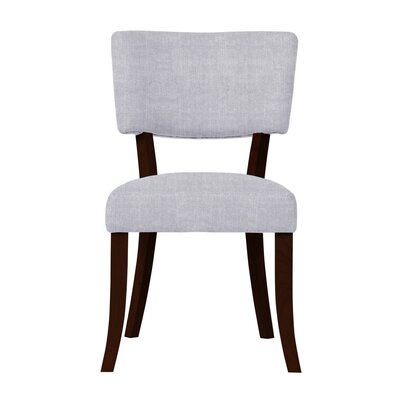 Larochelle Curved Wood Legs Side Chair Upholstery: Light Blue