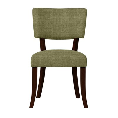 Larochelle Curved Wood Legs Side Chair Upholstery: Light Green
