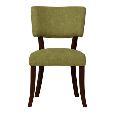 Larochelle Solid Back Side Chair (Set of 2) Upholstery: Green