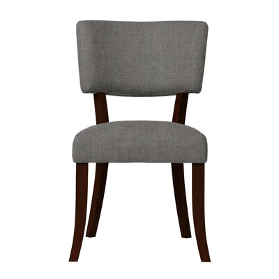 Larochelle Solid Back Side Chair Upholstery: Gray