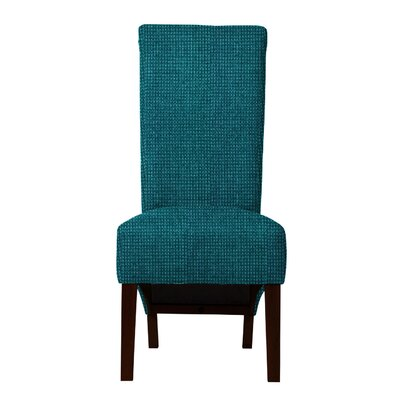 Keyesport Rough Cloth Parsons Chair Upholstery: Blue